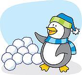 Little penguin 4 vector