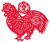 Chinese zodiac of cock