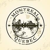 stamp with Montreal, Quebec