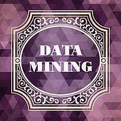 Data Mining Concept. Vintage design.