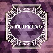 Studying Concept. Purple Vintage design.