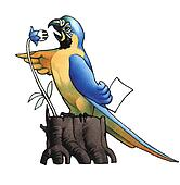 The scientist ara (macaw)
