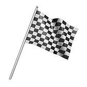 Checkered racing flag. 3d illustration