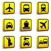 Airport Style Icons Set 01