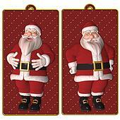Santa tags or labels