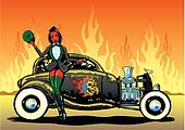 Hotrod To Hell kustom culture style pin up illustration