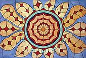 Original drawing       of stained window pattern