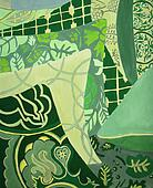 Green pillows painting