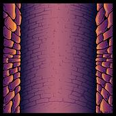 Dungeon stone wall background vector illustration