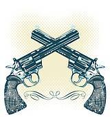 Hand guns vector illustration