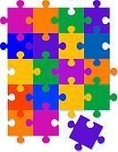 Jigsaw Pattern Background Design