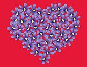 Violets heart