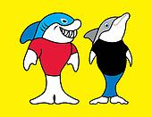 Shark and Dolphin