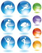Illness Crystal Icon Set