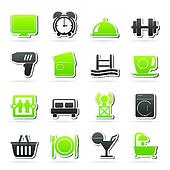 Hotel and Motel facilities icons