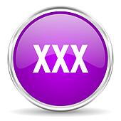 xxx pink glossy icon