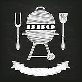 Blackboard BBQ Fork