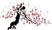 chinese painting of flower