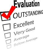 Outstanding job evalution check boxes