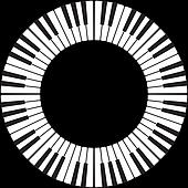 Piano keys in a circle
