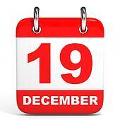 Calendar. 19 December.