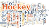 Ice hockey word cloud