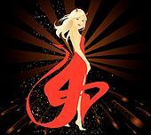 Pretty woman dressed in Devil costume
