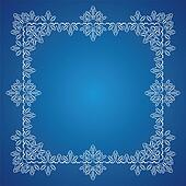 Detailed frosty Christmas frame