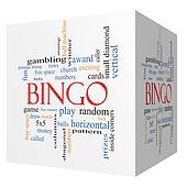 Bingo 3D cube Word Cloud Concept