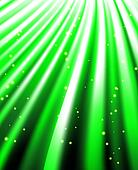 stars are falling on the background of green rays.