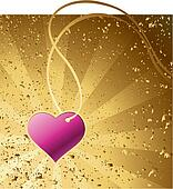 gold background with heart