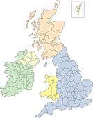 England, Ireland, Scotland and Wales