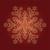 Detailed golden snowflake