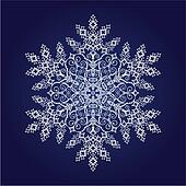 Single detailed snowflake