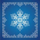 Single detailed snowflake with Christmas border 2
