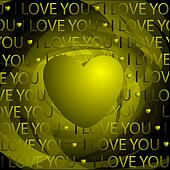 Unusual background and heart
