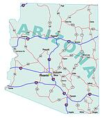 Arizona State Interstate Map