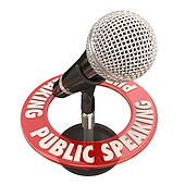 Public Speaking Microphone Keynote Speaker Address Speech