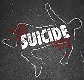 Suicide Chalk Outline Dead Body Depressed Person End Life