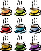 Colorful coffee beverage icon