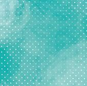 Turquoise polka dot background with