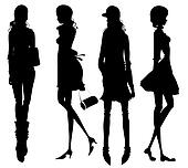 Fashion girls silhouette