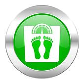 weight green circle chrome web icon isolated