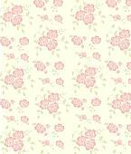 seamless pink rose pattern