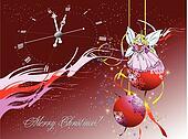 Christmas. New Year night. Vector illustration