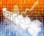 Finance economy improving concept
