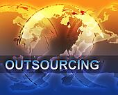 Outsourcing globalization illustration