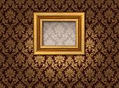 Gold and damask