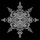 Ornamental white snowflake