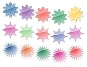 Starburst Stickers in Bright Colors